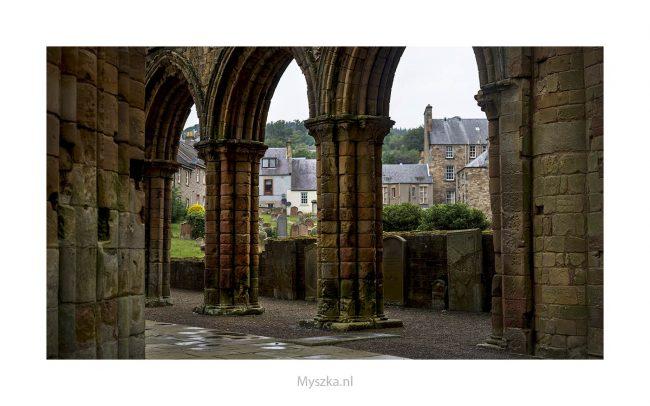 Schotland, Jedburgh Abbey, juli 2019