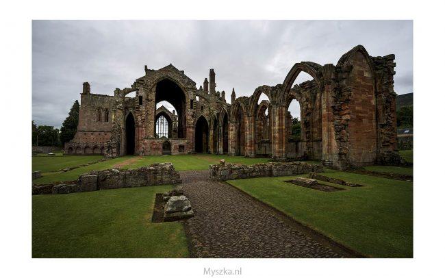 Schotland, Melrose Abbey, juli 2019